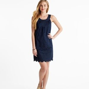 Vineyard Vines Navy Embroidered Eyelet Dress